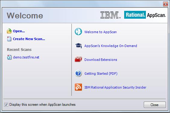 اسکنر امنیتی IBM AppScan